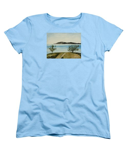 Ventura's Two Trees With Santa Cruz  Women's T-Shirt (Standard Cut) by Ian Donley