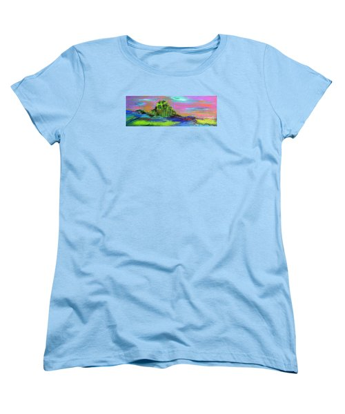 Women's T-Shirt (Standard Cut) featuring the painting Verdant Tuft by Elizabeth Fontaine-Barr