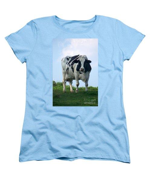 Women's T-Shirt (Standard Cut) featuring the photograph Vermont Dairy Cow by Eunice Miller