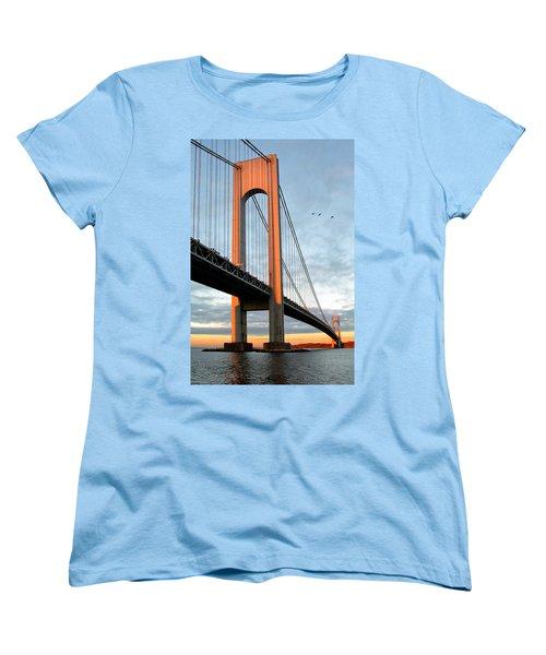 Verrazano Bridge At Sunrise - Verrazano Narrows Women's T-Shirt (Standard Cut)