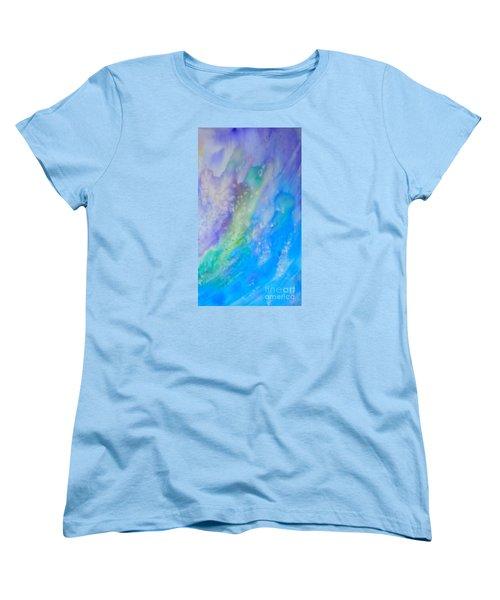 Vetical Ocean Waves Women's T-Shirt (Standard Cut) by Justin Moore