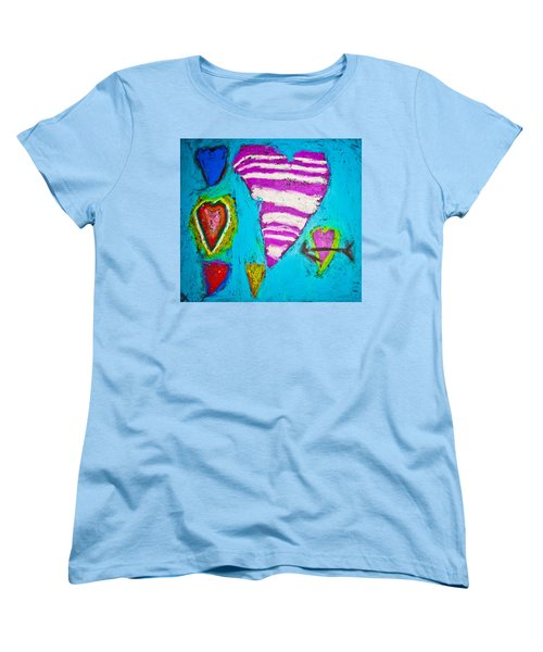 Women's T-Shirt (Standard Cut) featuring the photograph Vibrant Love by Sara Frank