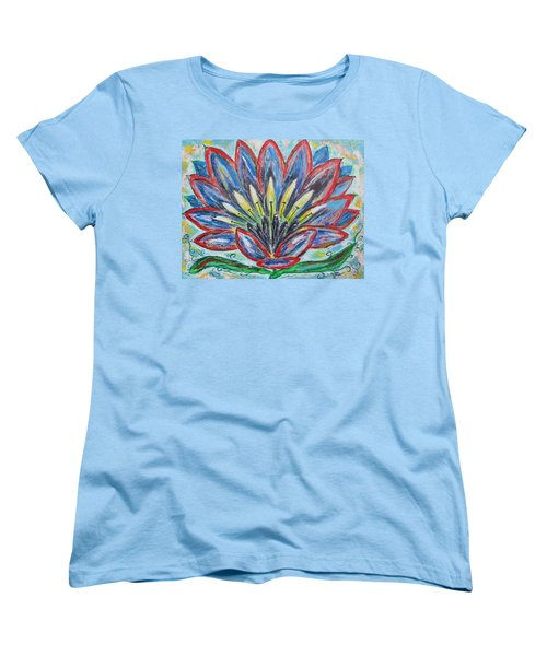 Women's T-Shirt (Standard Cut) featuring the painting Hawaiian Blossom by Diane Pape