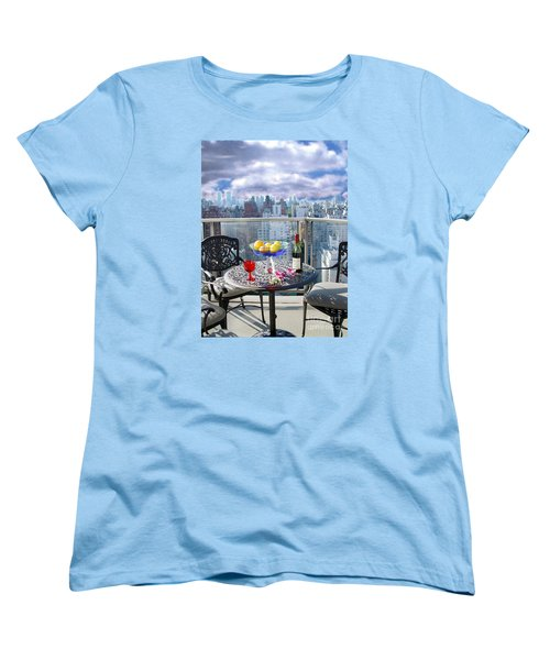 View From The Terrace Women's T-Shirt (Standard Cut) by Madeline Ellis