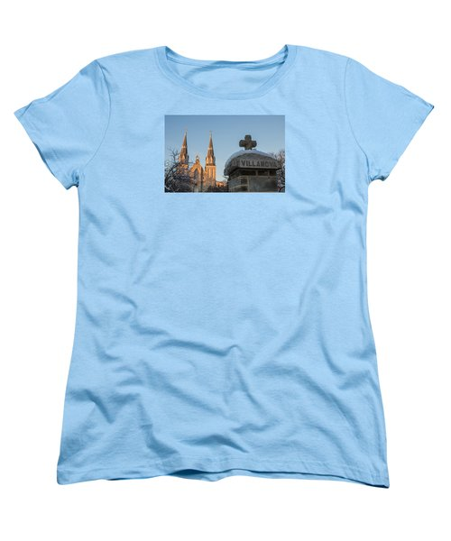 Villanova Wall And Chapel Women's T-Shirt (Standard Cut) by Photographic Arts And Design Studio