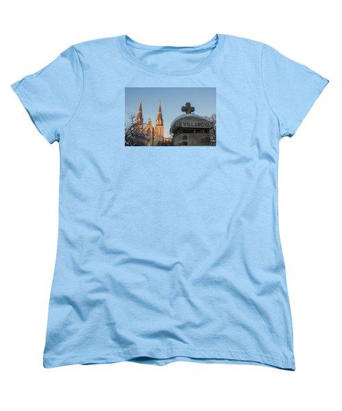 Villanova Wall And Chapel Women's T-Shirt (Standard Cut)