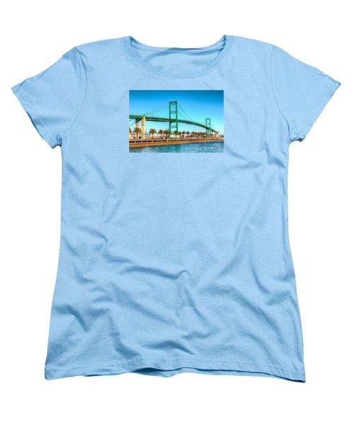 Women's T-Shirt (Standard Cut) featuring the photograph Vincent Thomas Bridge by Jim Carrell