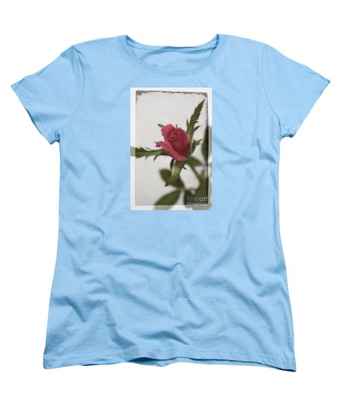 Women's T-Shirt (Standard Cut) featuring the photograph Vintage Antique Rose by Ella Kaye Dickey