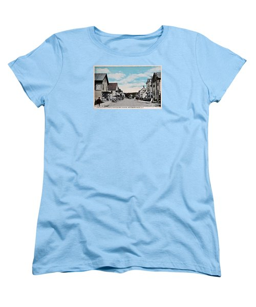 Vintage Postcard Of Wolfeboro New Hampshire Art Prints Women's T-Shirt (Standard Cut) by Valerie Garner