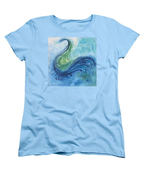 Peacock Vision In The Mist Women's T-Shirt (Standard Cut) by Diane Pape