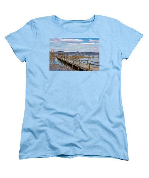 Vransko Lake Nature Park Bird Observatory Women's T-Shirt (Standard Cut) by Brch Photography