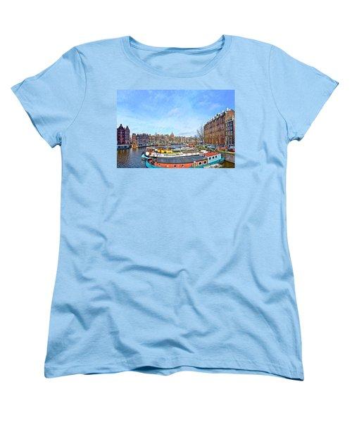 Waalseilandgracht Amsterdam Women's T-Shirt (Standard Cut) by Frans Blok