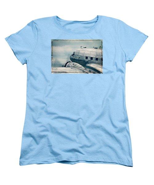 Waiting For Take Off Women's T-Shirt (Standard Cut) by Steven Bateson