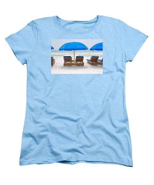 Panama City Beach Florida Empty Chairs Women's T-Shirt (Standard Cut) by Vizual Studio