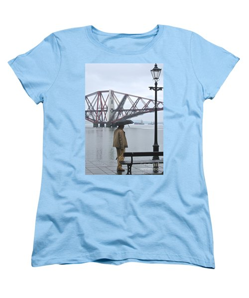 Women's T-Shirt (Standard Cut) featuring the photograph Waiting On High Street by Suzanne Oesterling