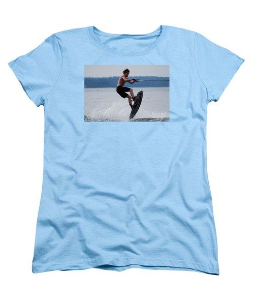 Wakeboarder Women's T-Shirt (Standard Cut) by DejaVu Designs