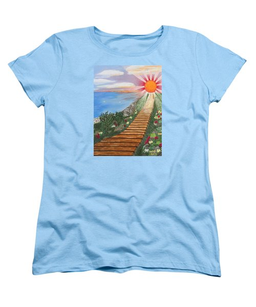 Waking Up Love Women's T-Shirt (Standard Cut) by Cheryl Bailey