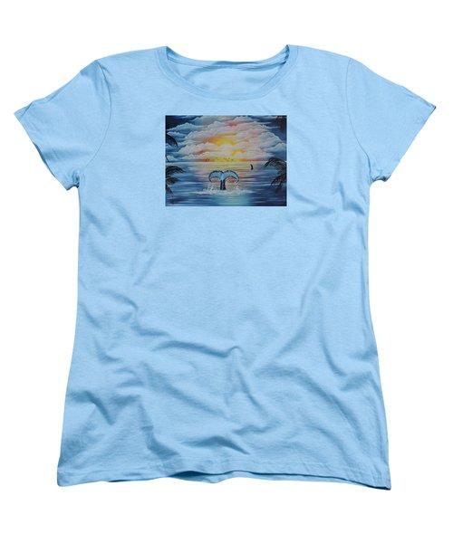 Wale Tales Women's T-Shirt (Standard Cut) by Dianna Lewis