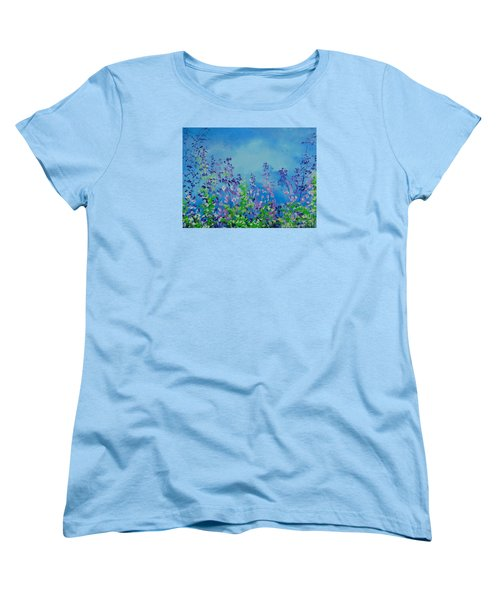 Walk Out Into The Fields Women's T-Shirt (Standard Cut) by Dan Whittemore