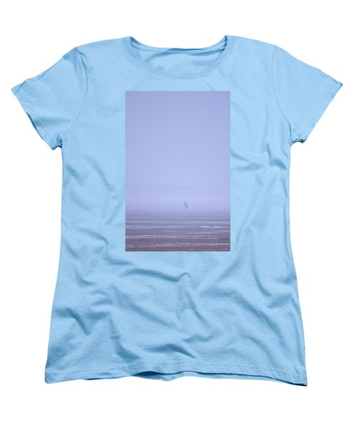 Walking The Dog In The Mist Women's T-Shirt (Standard Cut) by Spikey Mouse Photography
