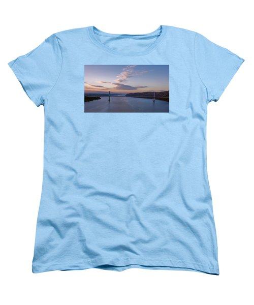 Walkway Over The Hudson Dawn Women's T-Shirt (Standard Cut) by Joan Carroll