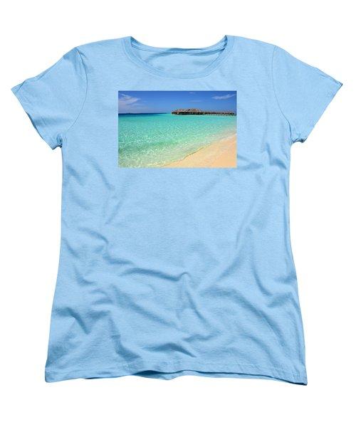 Warm Welcoming. Maldives Women's T-Shirt (Standard Cut) by Jenny Rainbow