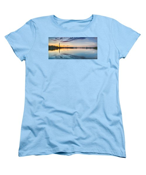 Washington Dc Panorama Women's T-Shirt (Standard Cut) by Sebastian Musial