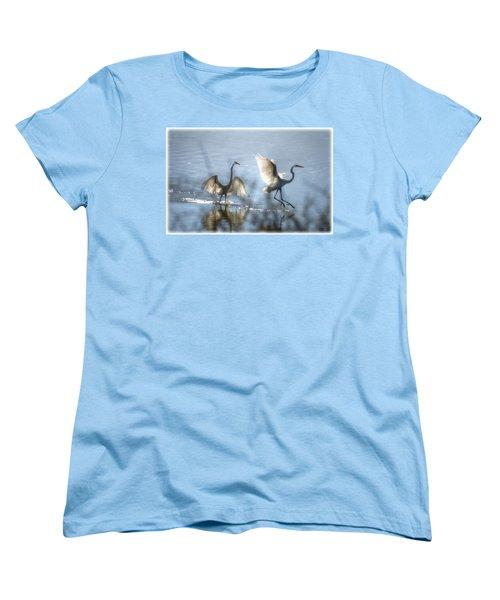 Water Ballet  Women's T-Shirt (Standard Cut) by Saija  Lehtonen