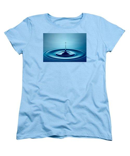 Water Drop Splash Women's T-Shirt (Standard Cut) by Johan Swanepoel