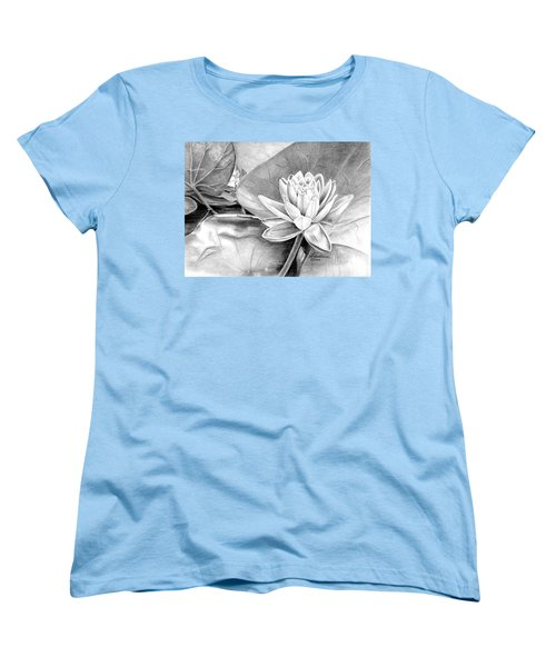Water Lilly Women's T-Shirt (Standard Cut) by Laurianna Taylor