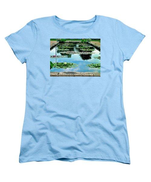 Water Lily Garden Women's T-Shirt (Standard Cut) by Zafer Gurel