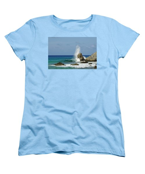 Wave At Boldro Beach Women's T-Shirt (Standard Cut) by Vivian Christopher
