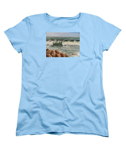 Waves Crashing Women's T-Shirt (Standard Cut)