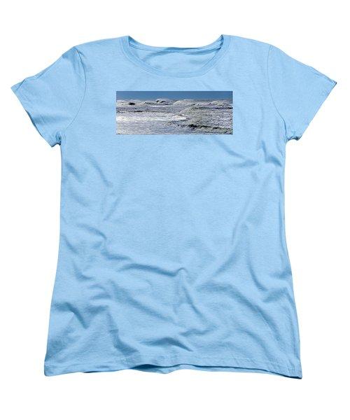 Waves Off Sandfiddler Rd Corolla Nc Women's T-Shirt (Standard Cut) by Greg Reed