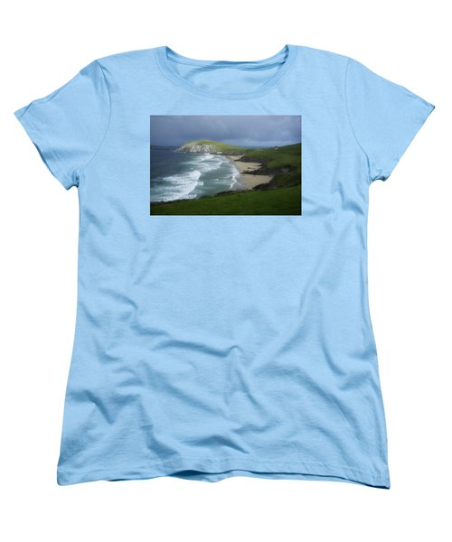 Waves Ring Of Dingle Women's T-Shirt (Standard Cut) by Hugh Smith