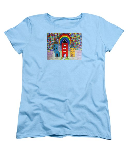 We Choose To Serve - Original Whimsical Folk Art Painting Women's T-Shirt (Standard Cut) by Ella Kaye Dickey