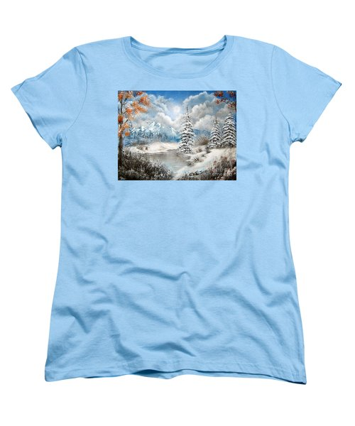 Women's T-Shirt (Standard Cut) featuring the painting We Lost The Road by Patrice Torrillo