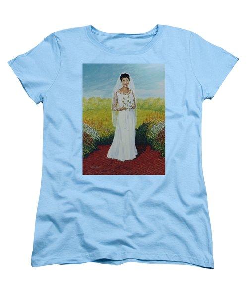 Wedding Day Women's T-Shirt (Standard Cut) by Stacy C Bottoms