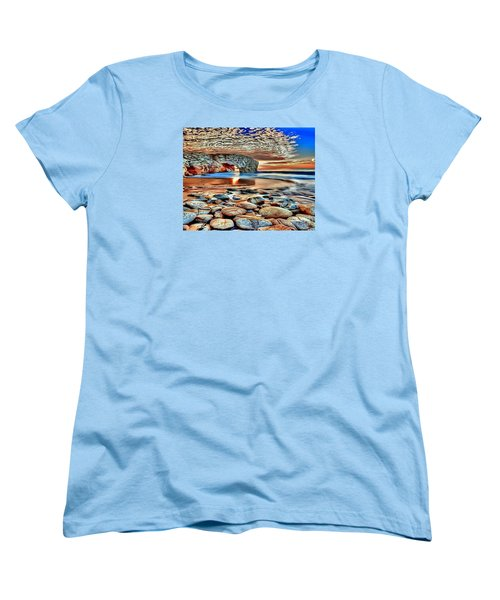 Weighed In Stone Women's T-Shirt (Standard Cut) by Catherine Lott