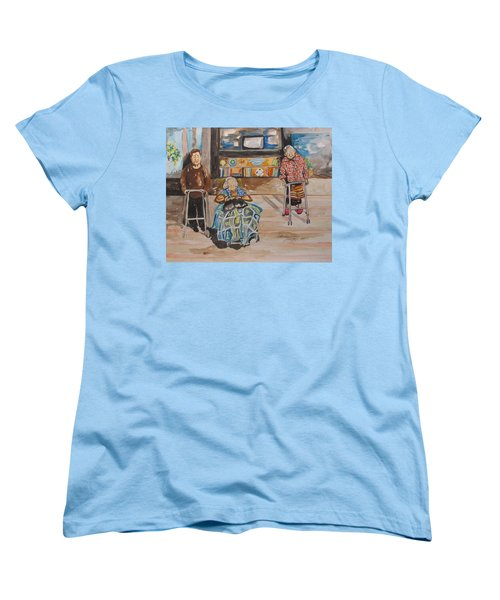 Women's T-Shirt (Standard Cut) featuring the painting We're Still Here by Esther Newman-Cohen
