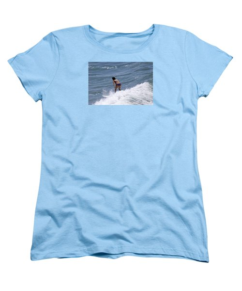 West Coast Surfer Girl Women's T-Shirt (Standard Cut) by Duncan Selby