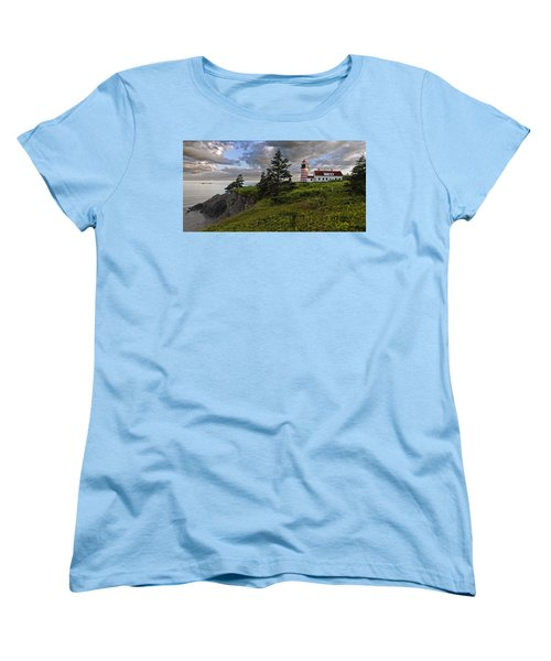 West Quoddy Head Lighthouse Panorama Women's T-Shirt (Standard Cut) by Marty Saccone