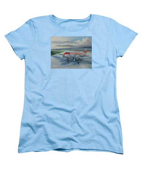Western Airlines Dc-3 Women's T-Shirt (Standard Cut) by Stuart Swartz