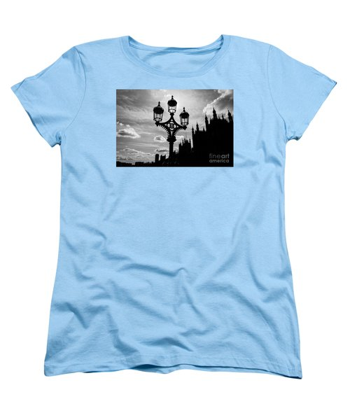 Women's T-Shirt (Standard Cut) featuring the photograph Westminster Silhouette by Matt Malloy