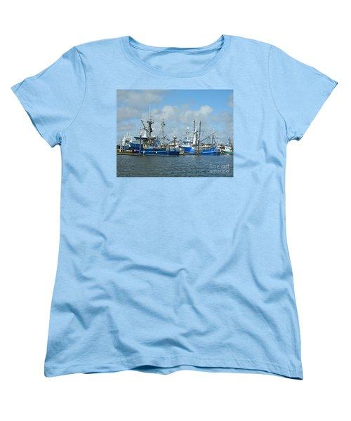 Westport Fishing Boats Women's T-Shirt (Standard Cut) by Chalet Roome-Rigdon
