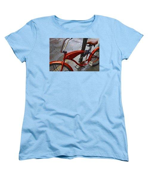 Wet Orange Bike   Nyc Women's T-Shirt (Standard Cut)