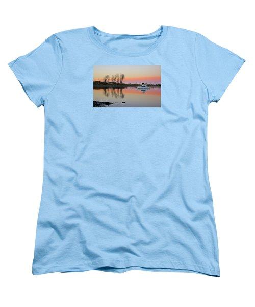 Whakatane At Sunset Women's T-Shirt (Standard Cut) by Venetia Featherstone-Witty