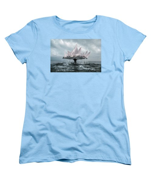 Women's T-Shirt (Standard Cut) featuring the pyrography Whale by Evgeniy Lankin