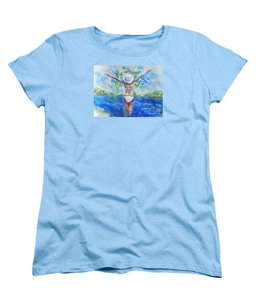 What Lies Ahead Series Forgive Women's T-Shirt (Standard Cut) by Chrisann Ellis