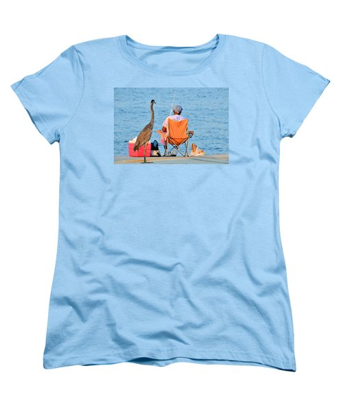 Women's T-Shirt (Standard Cut) featuring the photograph What's For Lunch by Charlotte Schafer